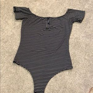 Striped Windsor bodysuit